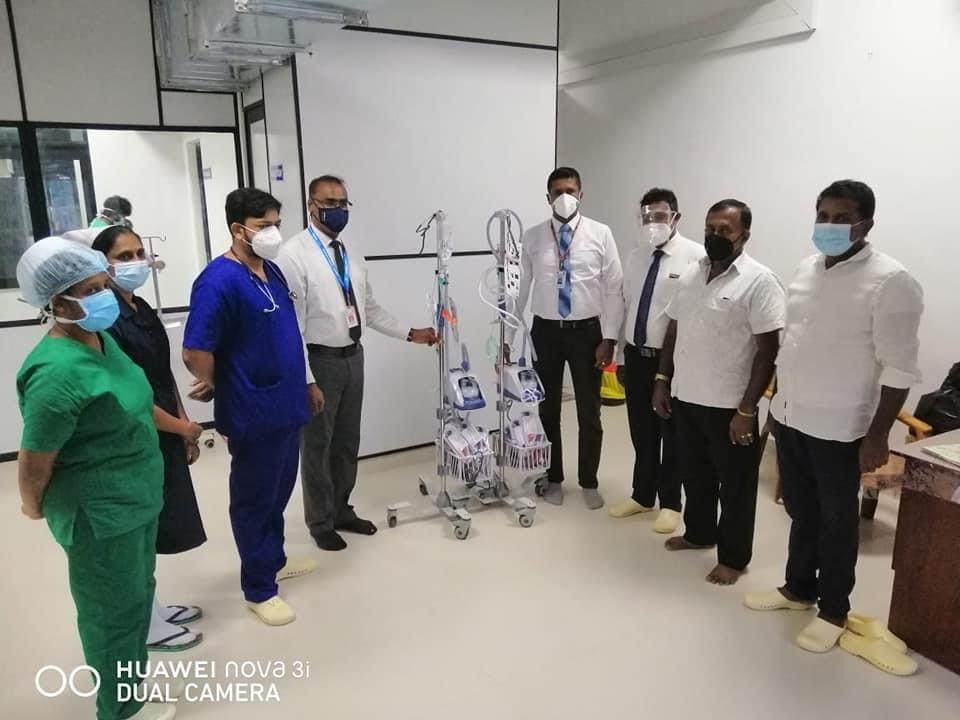 Three unit High Flow Nasal Therapy Machine donated to Sri Lanka 三台 Optiflow 鼻氧治疗机捐赠于斯里兰卡政府医院
